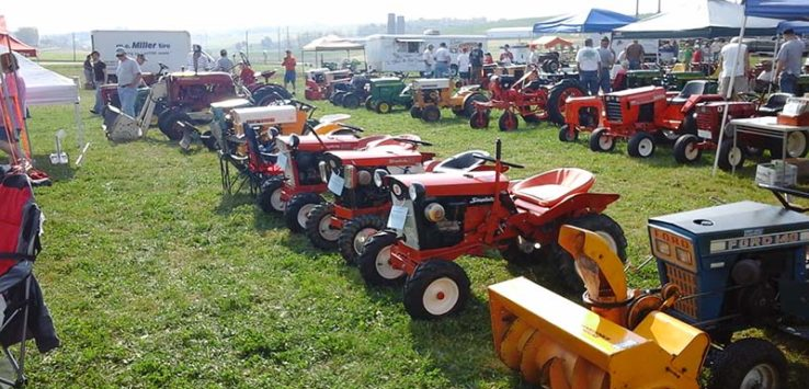 sugarcreek vintage garden tractor show and swap meet